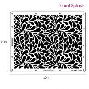Suzanne Esper Floral Splash Stencil 1