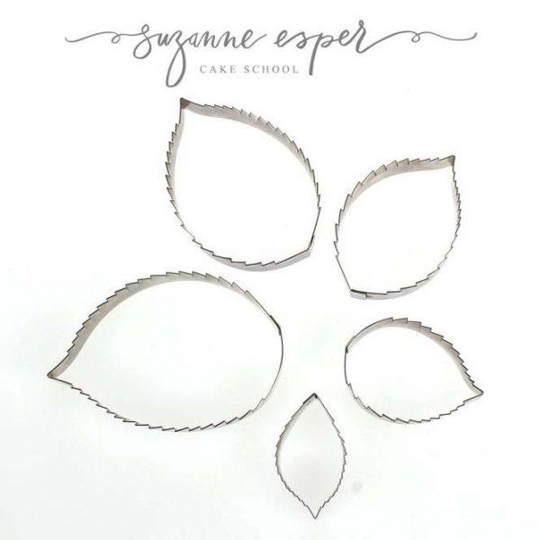 Suzanne Esper Cutters 5pc Rose Leaf Set
