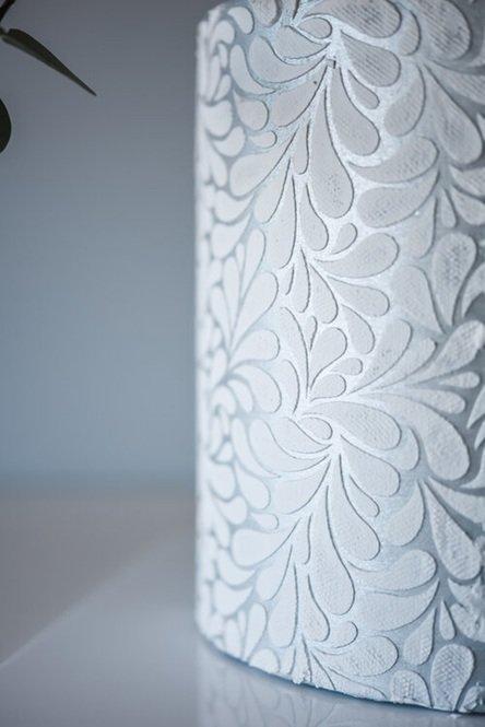 Suzanne Esper Floral Splash Stencil Cake 2