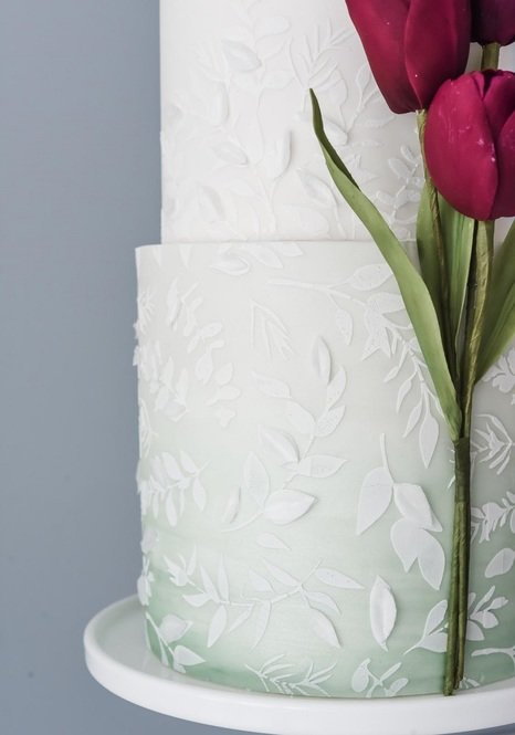 Suzanne Esper Meadow Breeze Stencil Cake 1