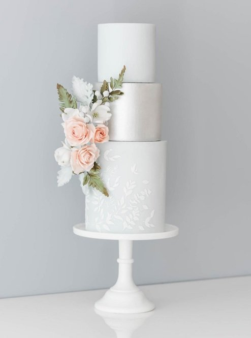 Suzanne Esper Meadow Breeze Side Elements Stencil Cake 2