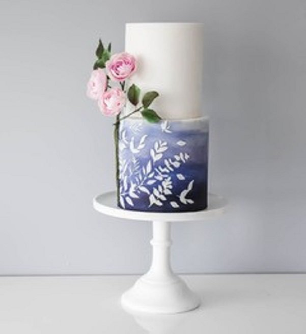 Suzanne Esper Meadow Breeze Side Elements Stencil Cake 1