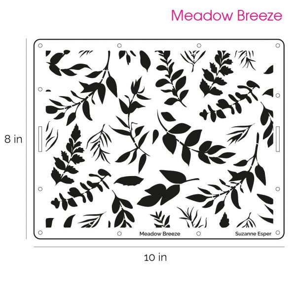 Suzanne Esper Meadow Breeze Stencil 1