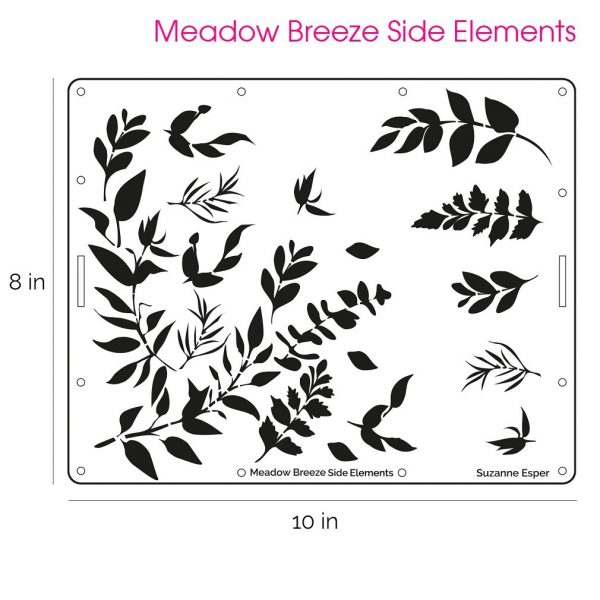 Suzanne Esper Meadow Breeze Side Elements Stencil 1